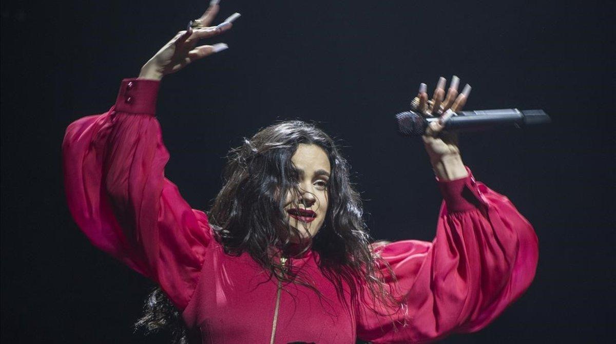 Rosalía, en su concierto en el Palau Sant Jordi en el 2019.