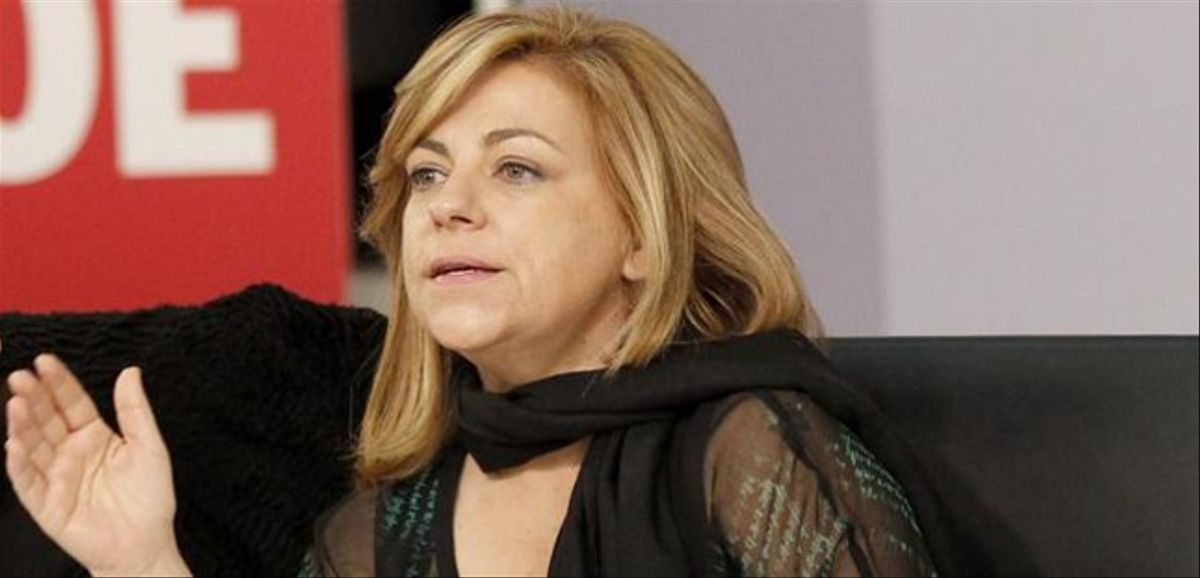 La vicesecretaria general del PSOE, Elena Valenciano, en la sede del PSOE.