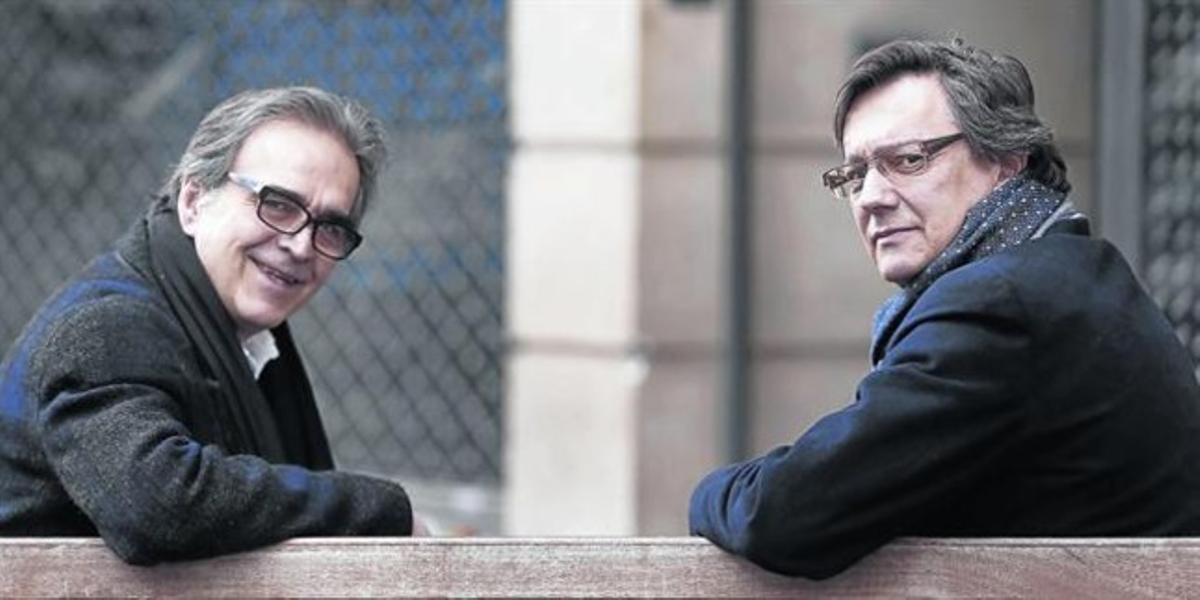 Los politólogos Joan Subirats (izquierda) y Fernando Vallespin, el martes,en Madrid.