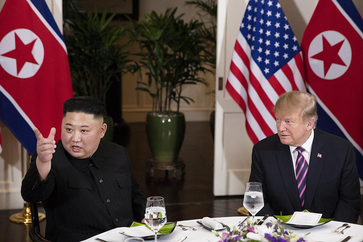 Kim y Trump, en la cumbre de Hanoi de 2019.