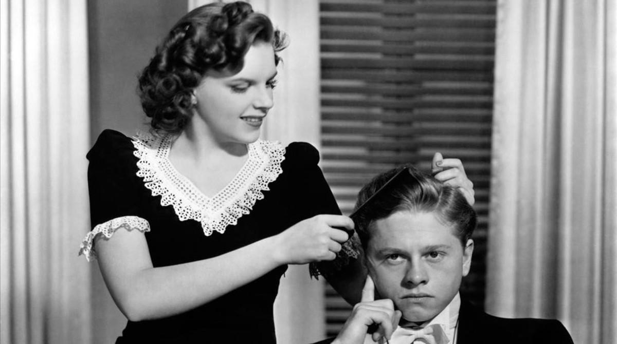 Judy Garland, con Mickey Rooney.