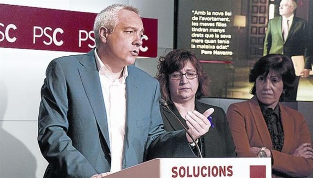 Pere Navarro, en una rueda de prensa.