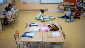 Una de las clases de infantil en una escuela.