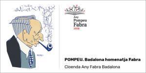 Cartel del acto de clausura del 'Any Fabra' en el Teatro Zorrilla de Badalona.