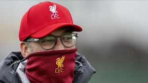 Jürgen Klopp, en un entrenamiento del Liverpool.