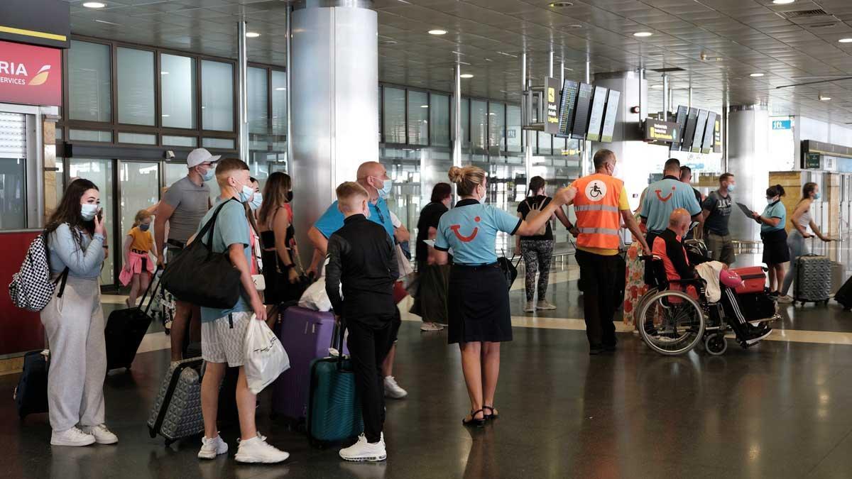 El aeropuerto de Gran Canaria.
