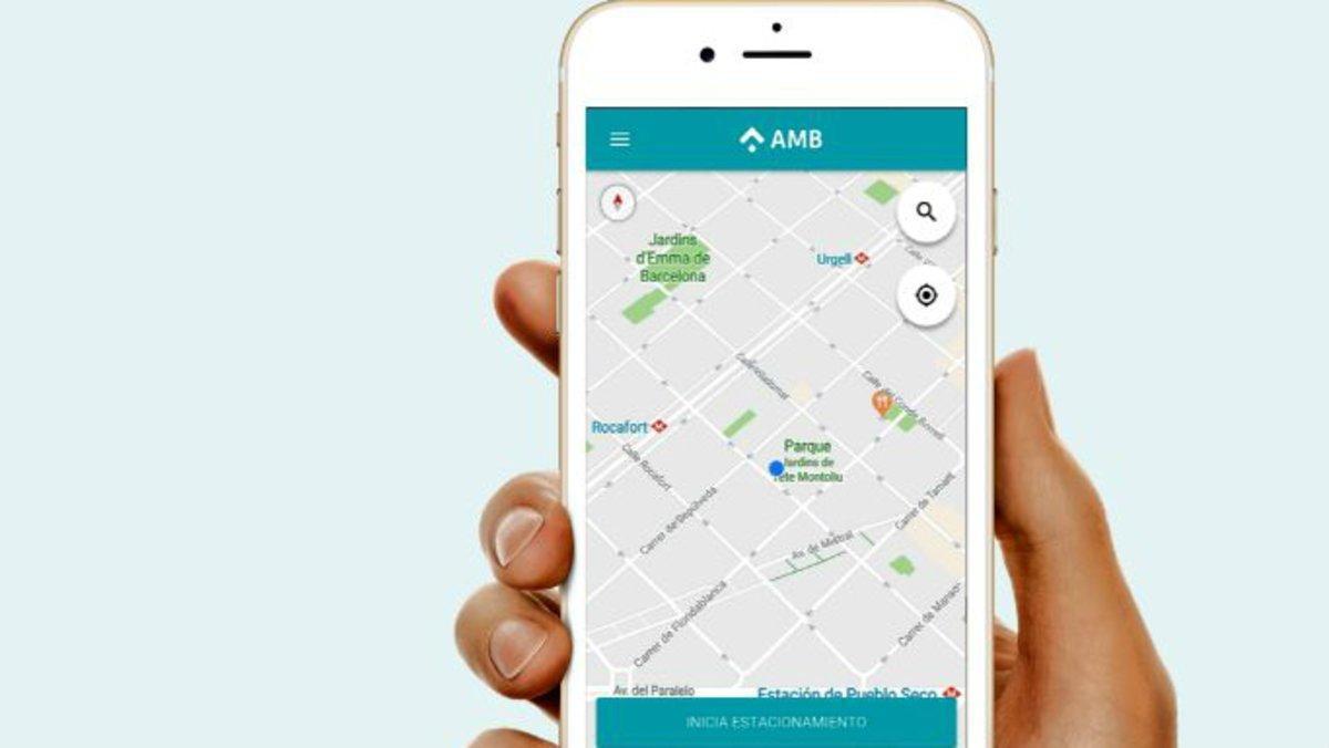 La aplicación 'AMB Aparcament Metropolità'