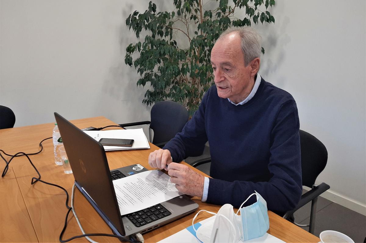 El Síndic de Mollet, Lluís Martínez Camps, s'acomiada dels veïns al finalitzar els cinc anys de mandat