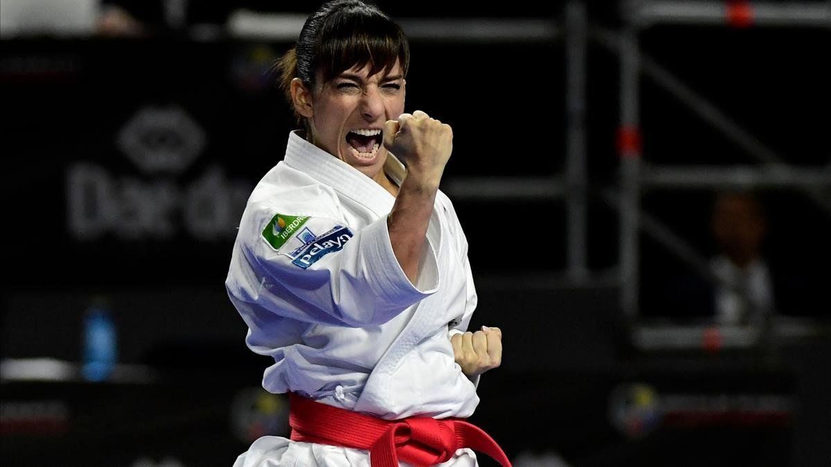 La campeonísima karateka de Talavera de la Reina Sandra Sánchez.