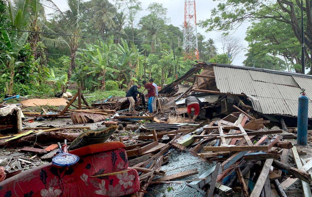 Tsunami en Indonesia.