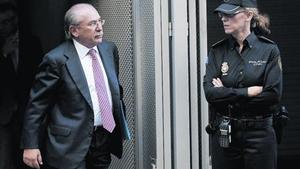 Luis del Rivero, expresidente de Sacyr, sale de la Audiencia Nacional tras declarar ante Ruz.