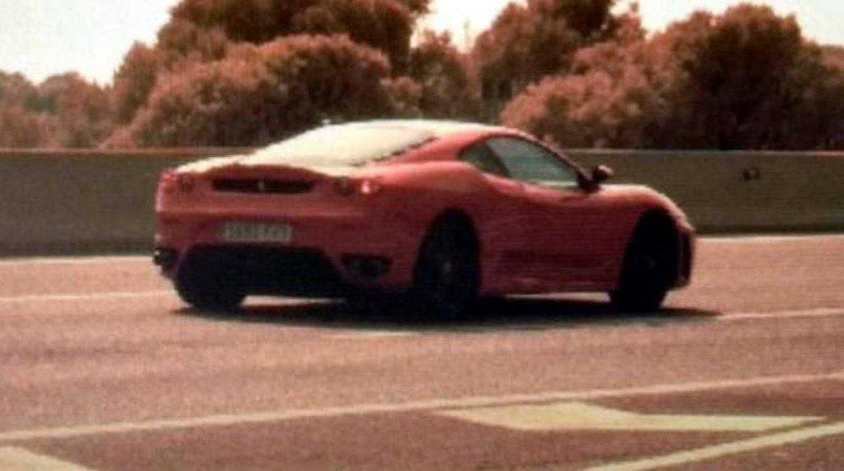 El coche pillado circulando a 216 km/h en Roda de Berà.