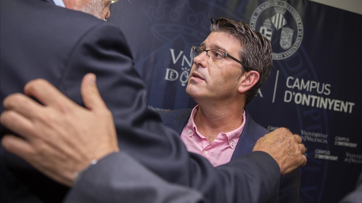 El alcalde de Ontinyent y expresidente de la Diputación de Valencia, Jorge Rodríguez, este miércoles.