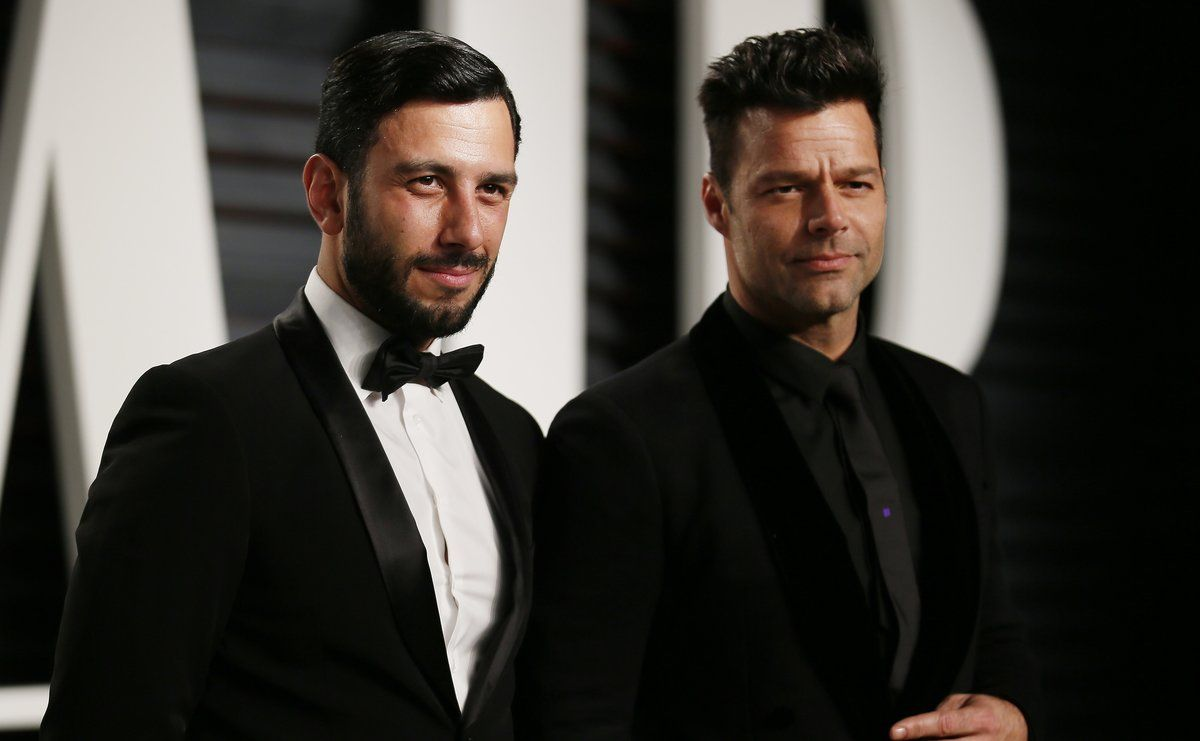 89th Academy Awards - Oscars Vanity Fair Party - Beverly Hills, California, U.S. - 27/02/17 †Singer Ricky Martin (R) and Jwan Yosef. REUTERS/Danny Moloshok