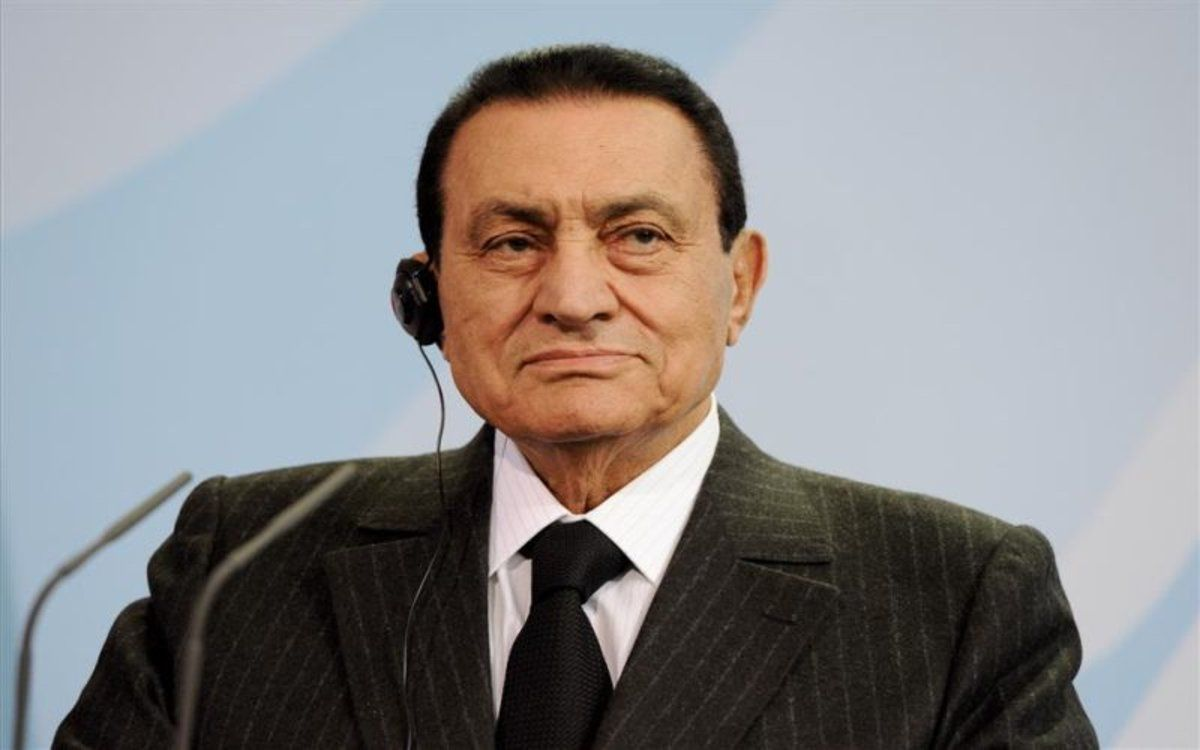 El expresidente de Egipto, Hosni Mubarak.