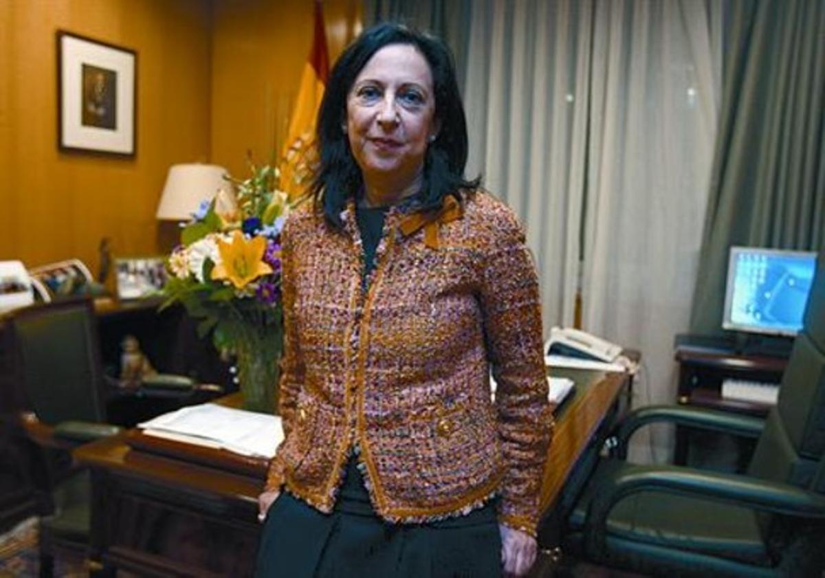 Margarita Robles, en su despacho del Consejo General del Poder Judicial, en Madrid, ayer.