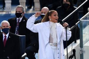 Jennifer Lopez durante la actuación