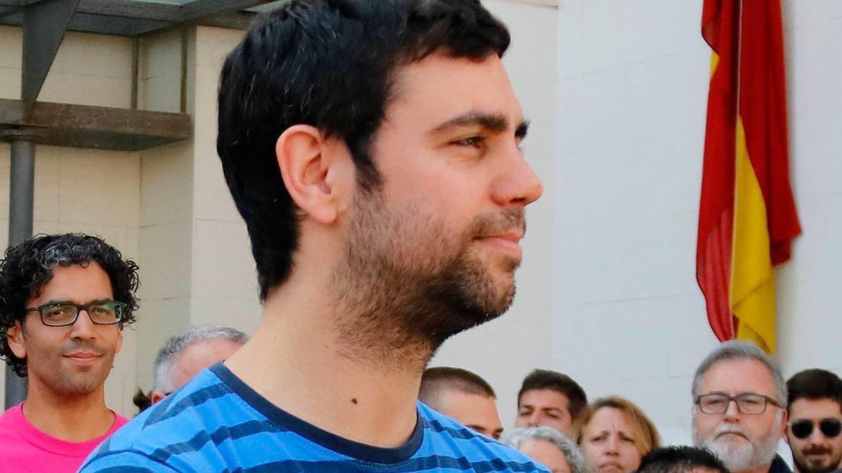 Eudald Calvo, a la entrada de los juzgados de Mataró, el 14 de junio del 2018.