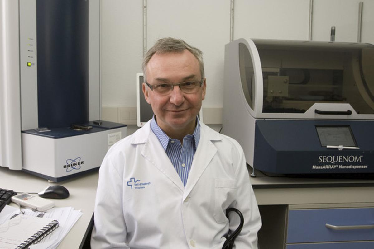 El doctor Josep Baselga, en el Hospital de la Vall d'Hebron, en una imagen de archivo.