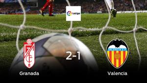 El Granada logra una ajustada victoria en casa frente al Valencia (2-1)
