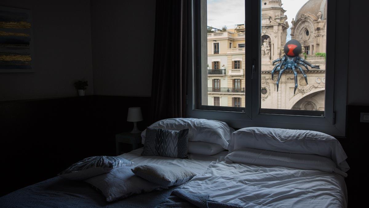 Interior de un piso turístico en Barcelona.