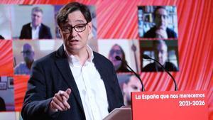 Salvador Illa durante el Comité Federal del PSOE que se celebra en Barcelona