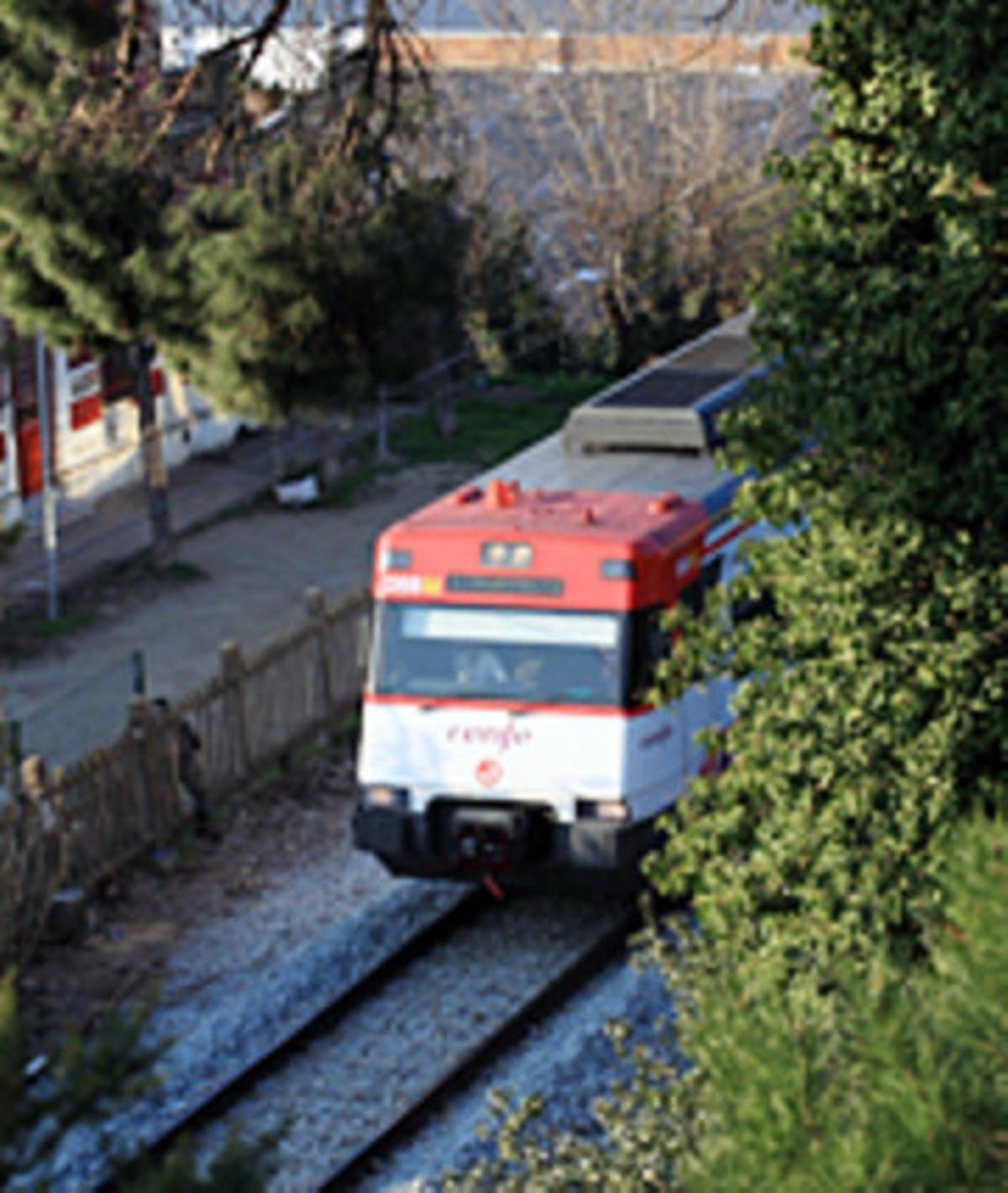 La línea 3 de cercanías entre Barcelona y Vic.