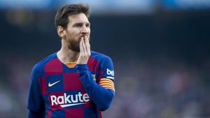 Messi, en el choque de Liga ante el Eibar en el Camp Nou.