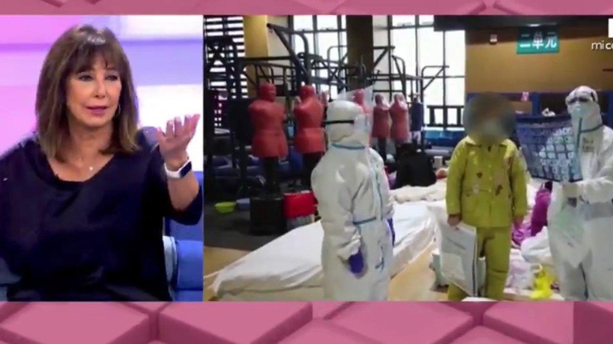 Ana Rosa pide perdón por usar imágenes de China para hablar de la saturación de los hospitales de Madrid