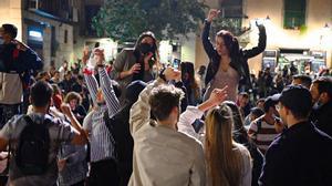 Nueva noche de botellón en Barcelona