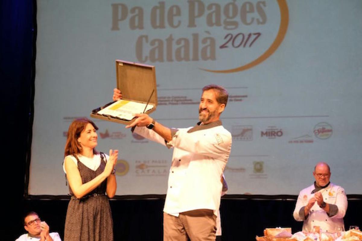 Miquel Guich, guanyador del millor pade pagès català de l'any.