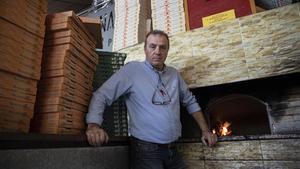 Carmine Melisse, propietario de la pizzeria Bella Napoli, en Girona.