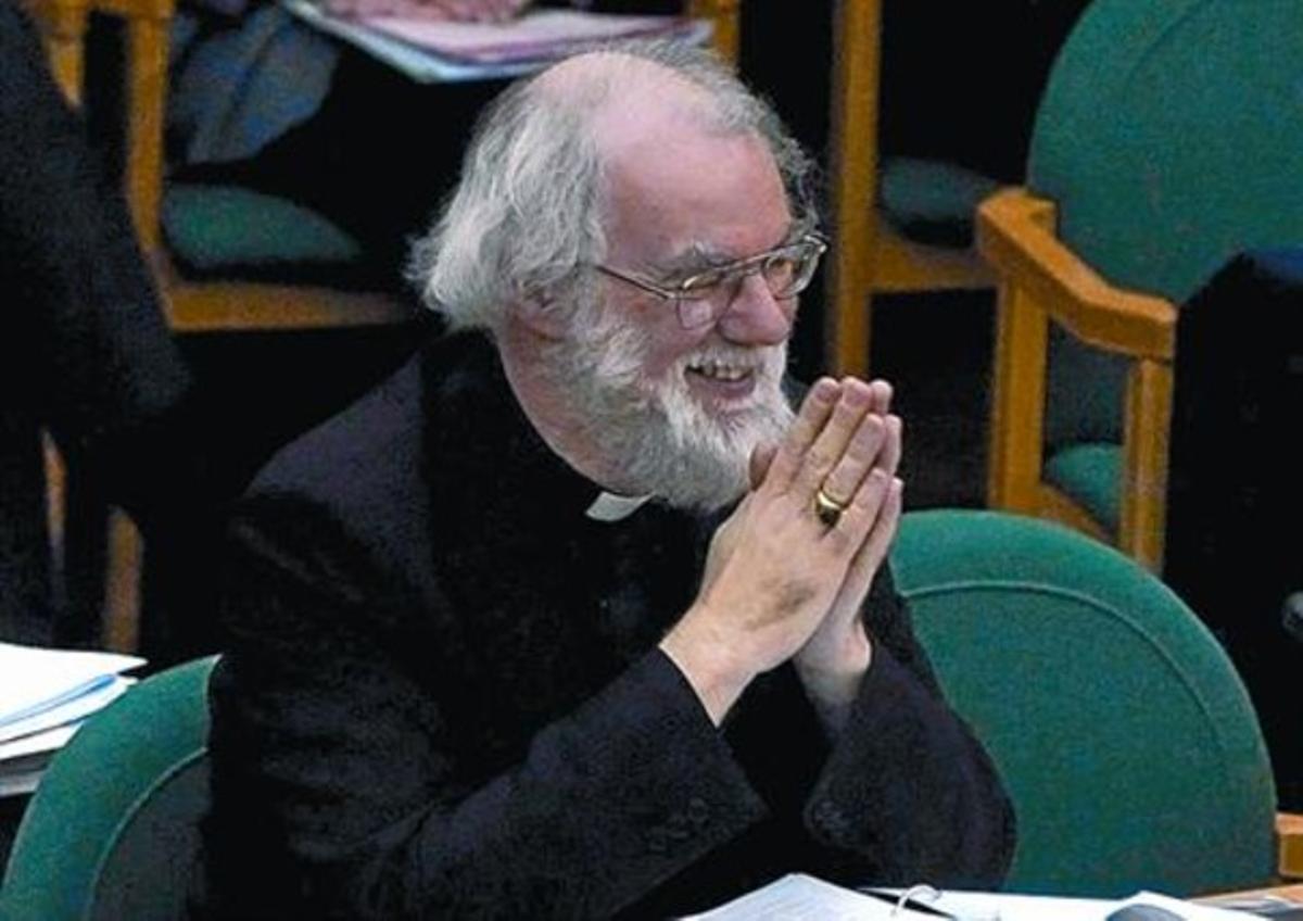 Rowan Williams, primado de la Iglesia anglicana, durante un sínodo.