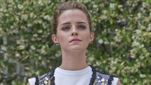 Emma Watson, en el hotel Bristol de París,este jueves.