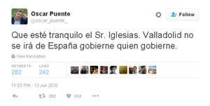 El alcalde de Valladolid responde a Pablo Iglesias que no se independizarán