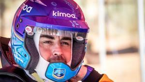 Fernando Alonso, durante la prueba de su Toyota en Suráfrica.
