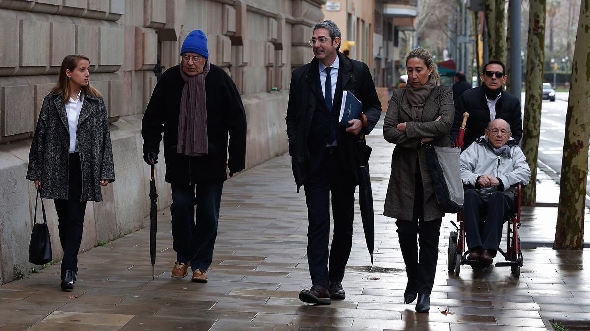 Felix Millet, Jordi y GemmaMontull y Daniel Osàcar llegan a la Audiencia para comparecer por el caso Palau.