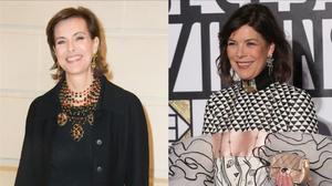 Carole Bouquet (izquierda) y Carolina de Mónaco.