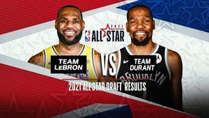 Las dos estrellas de la NBA, capitanes del All-Star Game.