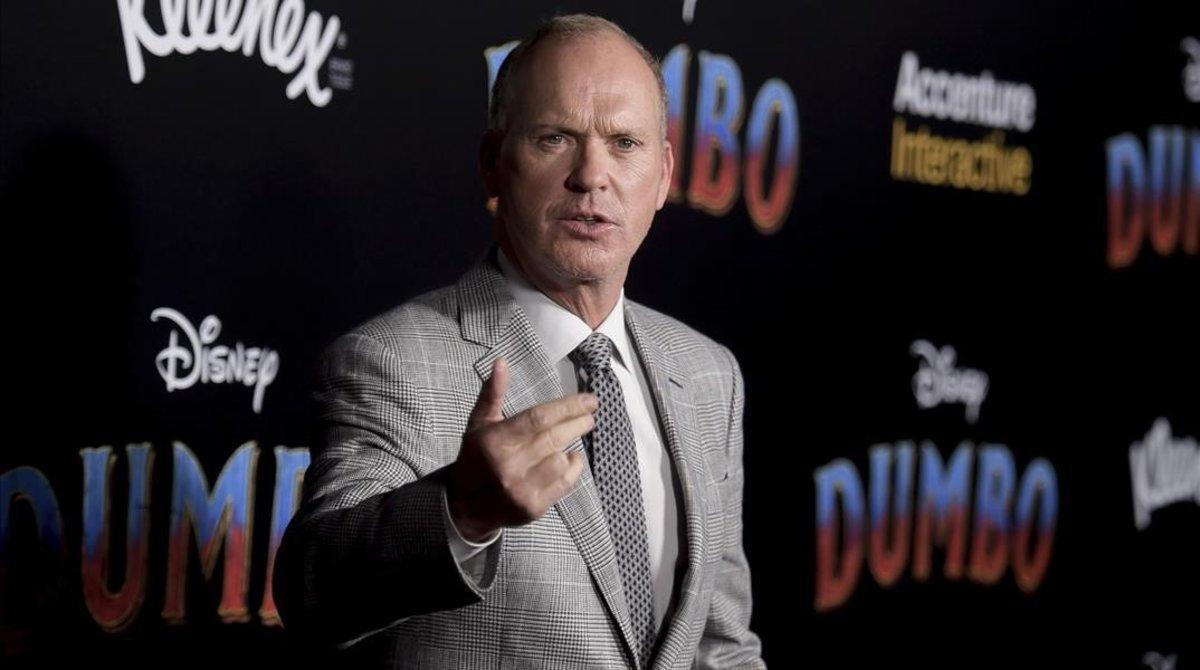 Michael Keaton, en el estreno de 'Dumbo', en marzo del año pasado.