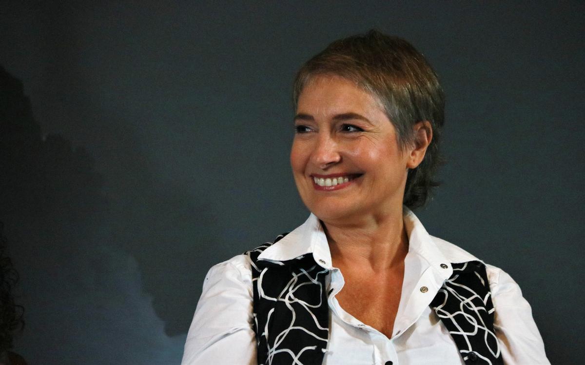 La actriz Assumpta Serna, protagonista del musical 'La canción de Ipanema' en la Aquitania Teatre.