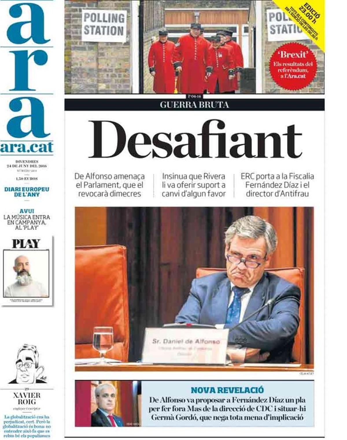 Los desafíos de De Alfonso y el Reino Unido copan las portadas