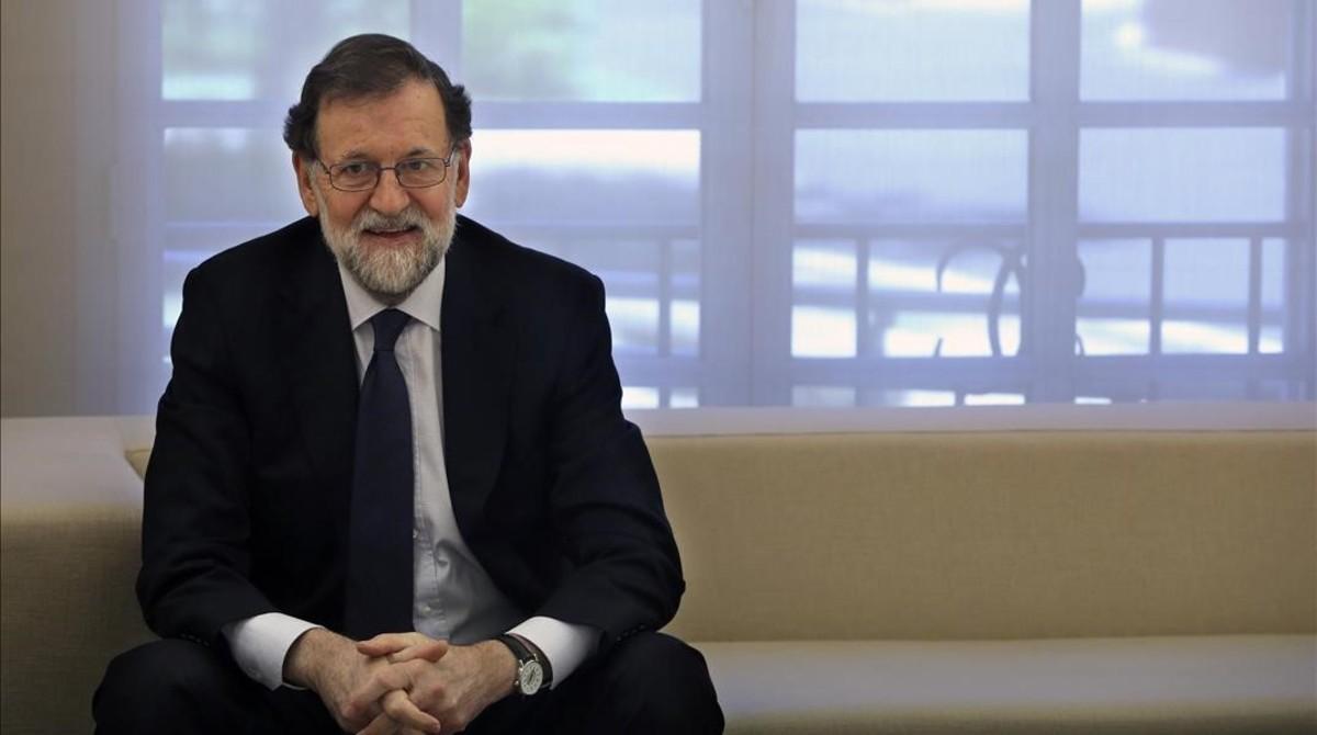 Mariano Rajoy, en la Moncloa, el pasado lunes.