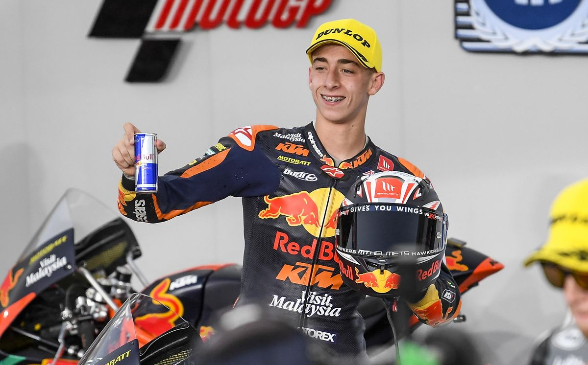 El murciano Pedro Acosta (KTM), ganador hoy, en Catar, nuevo héroe del Mundial.