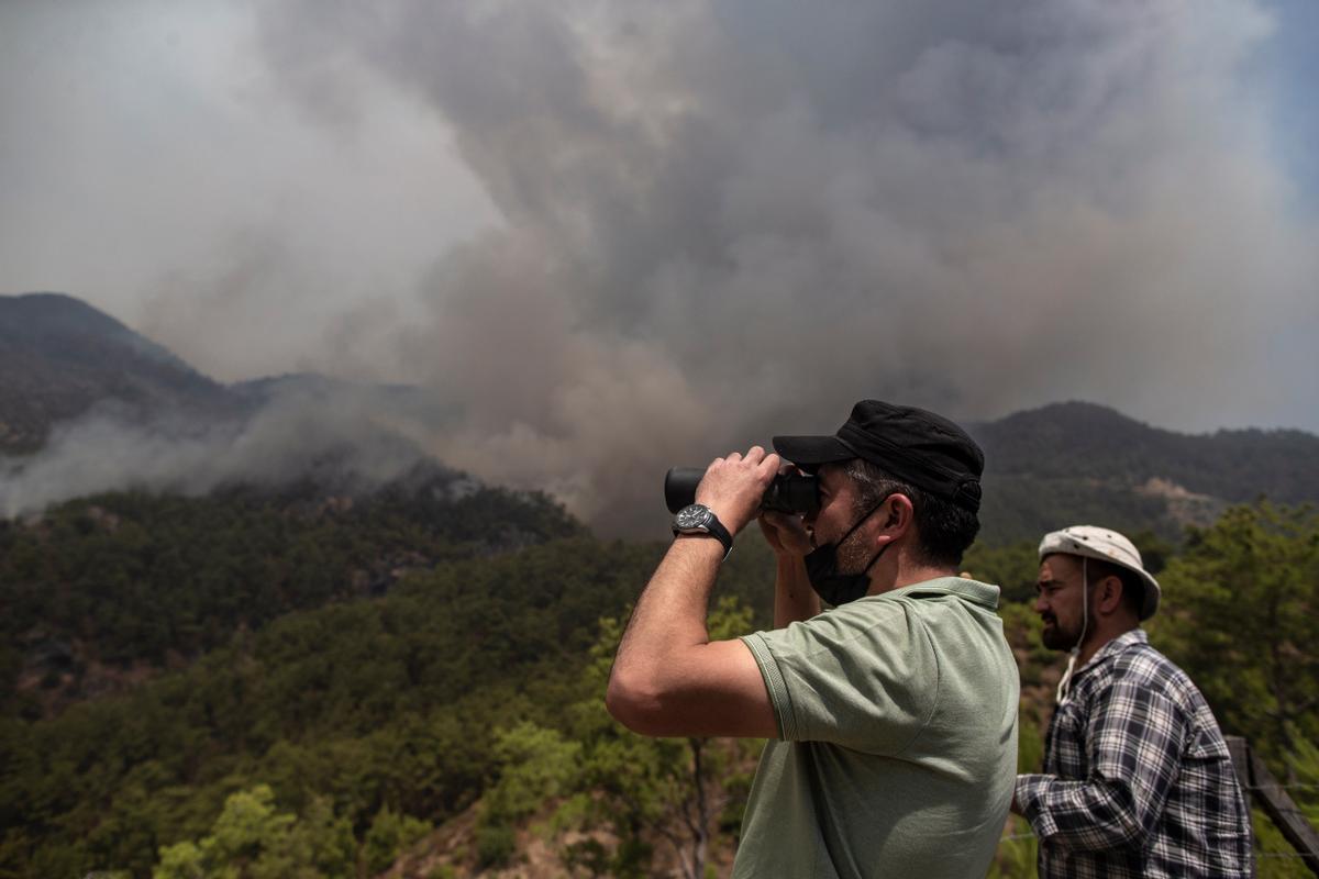 Les imatges dels incendis al Mediterrani