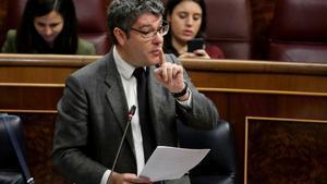 El ministro de Energía, Álvaro Nadal, en una sesión de control del Gobierno en el Congreso de los diputados.
