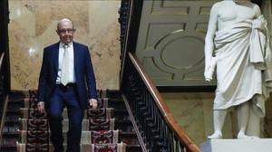 El exministro de HaciendaCristóbal Montoro, en el Congreso de los Diputados
