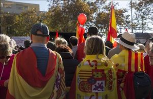Manifestación de España i Catalans el 6 de diciembre del 2018 en Barcelona.