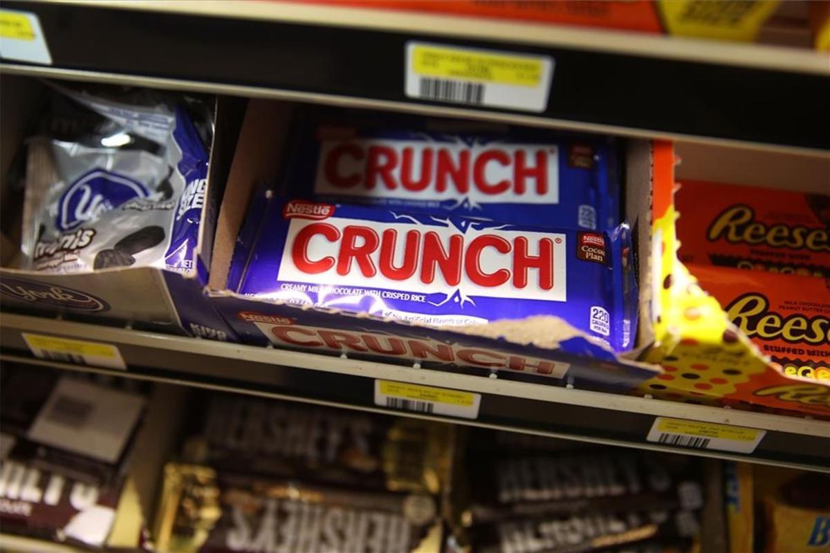 Chocolatinas en un súper de Estados Unidos.