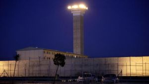 Fachada de la cárcel de Soto del Real (Madrid).